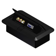 Procab CB3VGA/B Inbouw stagebox 3x RCA en 1x SVGA zwart