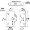 Penn Elcom LE-9284 paneelsluiting met roteervergrendeling