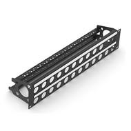 Penn Elcom R2269/2UK/32 rackpaneel 32x D-hole 2HE met ID-strip & trekontlasting bar