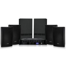 Apart PUBSET-BL geluidsset met versterker, 4 luidsprekers & 2 subwoofers zwart