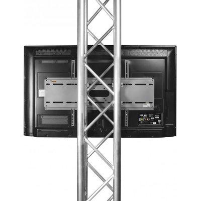 Riggatec TV truss beugel 37-65 inch met halfcouplers 32-35mm