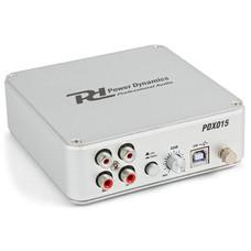 Power Dynamics PDX015 USB Phono voorversterker met software