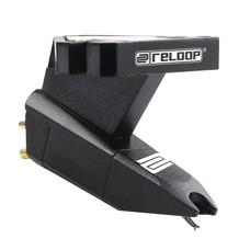 Reloop OM Black cartridge met headshell mounting