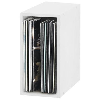 Glorious Record Box 55 platenkast voor vinyl wit