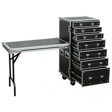 Power Dynamics PD-FA5 7 Laden flightcase met tafel