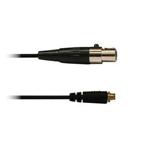 Audac 3-polige mini XLR kabel zwart voor div. headsets