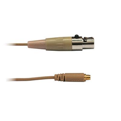 Audac 4-polige mini XLR kabel huidskleur voor div. headsets