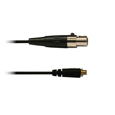 Audac 4-polige mini XLR kabel zwart voor div. headsets