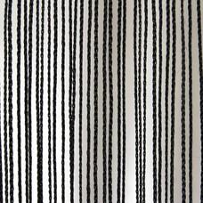 Showtec Pipe and drape spaghetti koordgordijn 300x600cm zwart