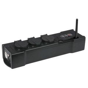 Showtec PowerBOX 3 3-weg verdeelblok met Powercon in- en uitgang en W-DMX ontvanger