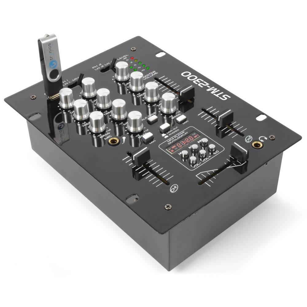 Skytec STM-2300 Mixer 2-Kanaals met USB-MP3-speler