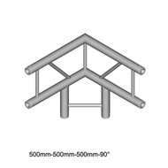 Duratruss DT 32/2-C31V-LD90 laddertruss 3-weg T-stuk 90° verticaal