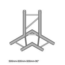 Duratruss DT 32/2-C31H-LD90 laddertruss 3-weg T-stuk 90° horizontaal omlaag