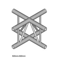Duratruss DT 32/2-C41VX laddertruss 4-weg kruis verticaal