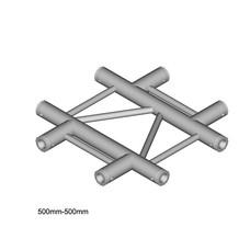 Duratruss DT 32/2-C41HX laddertruss 4-weg kruis horizontaal
