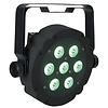 Showtec Compact Par 7 Tri platte RGB LED-par zwart
