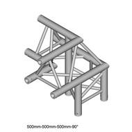 Duratruss DT 33/2-C31-LU driehoek truss hoek 90° apex up + rechts omlaag