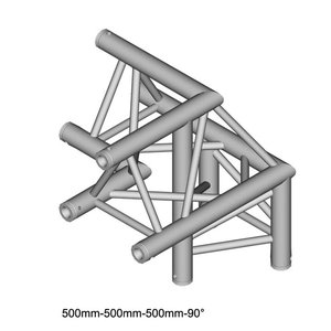 Duratruss DT 33/2-C32-LU driehoek truss hoek 90° apex up + links omlaag