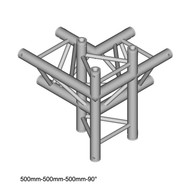 Duratruss DT 33/2-C44-LUD driehoek truss 4-weg hoek 90° apex up + down