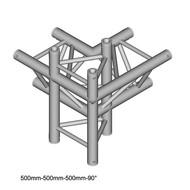 Duratruss DT 33/2-C45-LUD driehoek truss 4-weg hoek 90° apex up + down
