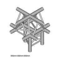 Duratruss DT 33/2-C52-XU driehoek truss 5-weg kruis apex up