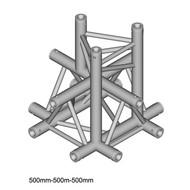 Duratruss DT 33/2-C53-XD driehoek truss 5-weg kruis apex down