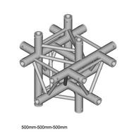 Duratruss DT 33/2-C61-XUD driehoek truss 6-weg kruis