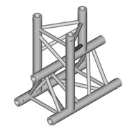 Duratruss DT 33/2-T38-T driehoek truss T-stuk apex down
