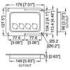 Penn Elcom D024z Inbouwschotel 4x D-Size