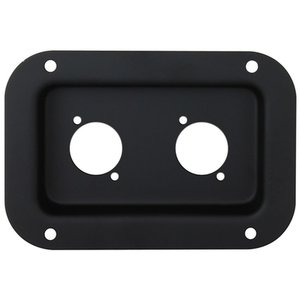Penn Elcom D0604k Inbouwschotel 2x D-Size zwart