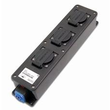 Keraf Stagebox16DL 3-weg verdeeldoos met powercon in- en uitgang