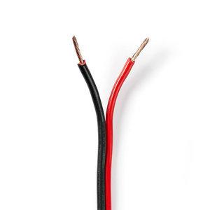 Nedis Luidsprekerkabel 2x 2,5mm zwart/rood 100m