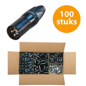Neutrik NC3MXX-BAG Male XLR kabeldeel 3p zwart 100 stuks