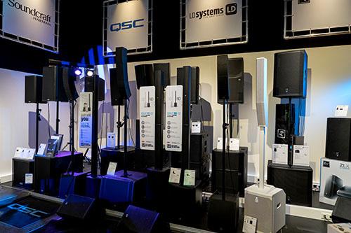 Luidsprekers showroom Fritz-Events
