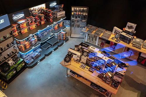 Lichteffecten showroom Fritz-Events