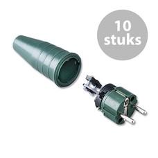 Keraf 521 Schuko 230V/240V stekker male legergroen (per 10)