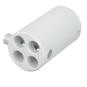 Wentex Pipe and drape 4-weg connector 40,6mm wit