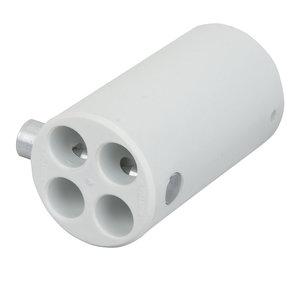 Wentex Pipe and drape 4-weg connector 45,7mm wit