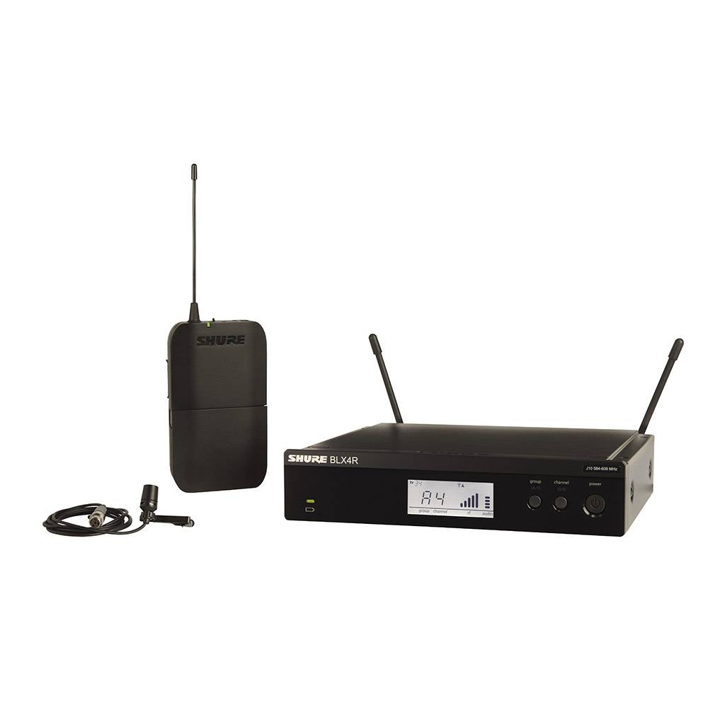 Shure BLX14R-CVL draadloze dasspeld microfoon (rackmount)