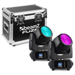 Beamz 2x Fuze75B Beam LED movinghead met flightcase