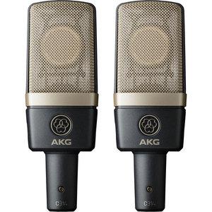 AKG C314 Stereo grootmembraan studio condensator microfoon (set van 2)