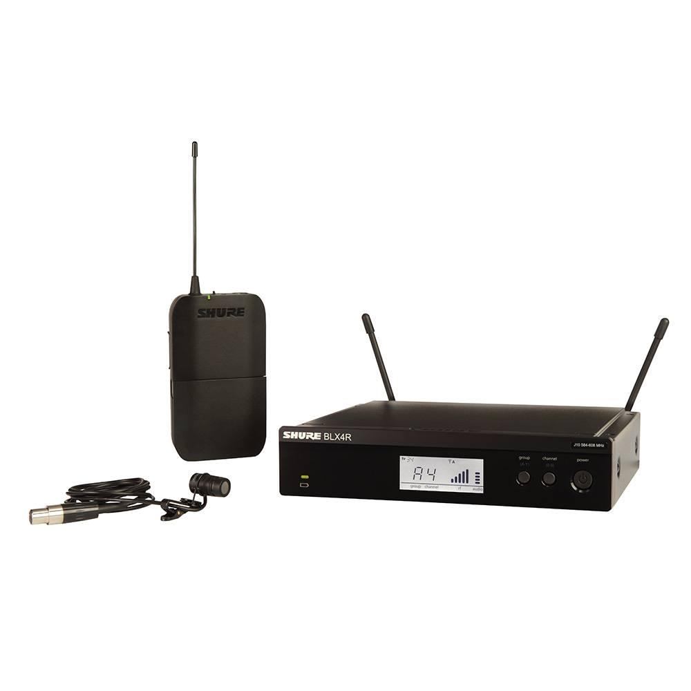 Shure BLX14R-W85 Draadloos dasspeld microfoonsysteem (rackmount)