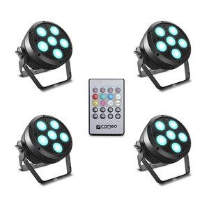 Cameo ROOT PAR 6 SET 1 met 4x ROOT PAR 6 RGBAW + UV