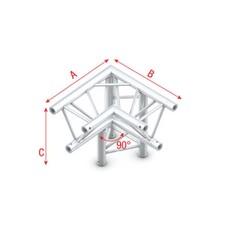 Showtec FT30 Driehoek truss 012 3-weg hoek 90g apex down
