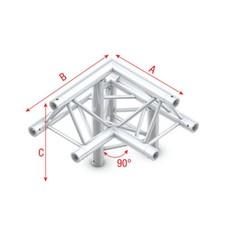 Showtec FT30 Driehoek truss 010 3-weg hoek 90g apex up