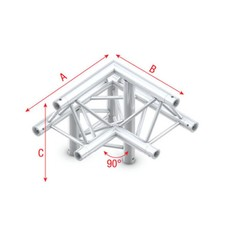 Showtec GT30 Driehoek truss 011 3-weg hoek 90g apex up
