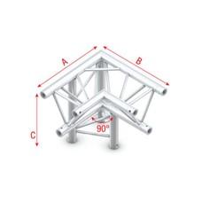 Showtec GT30 Driehoek truss 013 3-weg hoek 90g apex down