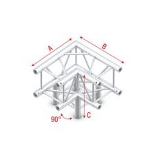 Showtec PQ30 Vierkant truss 012 3-weg hoek 90g