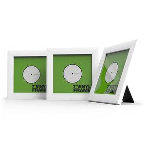 Glorious Vinyl Frame Set 7'' White lijst voor platen (3 stuks)
