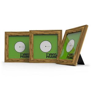 Glorious Vinyl Frame Set 7'' Rosewood lijst voor platen (3 stuks)